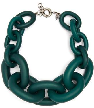 Vanda Jacintho - Chunky Chain Link Necklace - Womens - Green