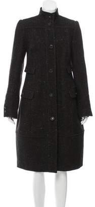 Narciso Rodriguez Wool-Angora Long Coat