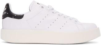 adidas Originals White Stan Smith Bold Sneakers $110 thestylecure.com