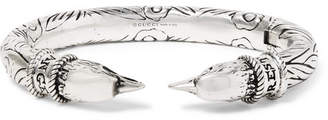 Gucci Eagle Head Sterling Silver Cuff - Men - Silver