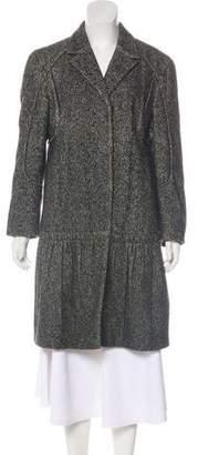 Prada Wool-Blend Knee-Length Coat