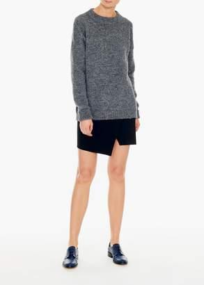 Tibi Anson Stretch Flap Front Mini Skirt