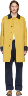 Burberry Yellow Car Coat