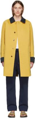 Burberry Yellow Car Coat