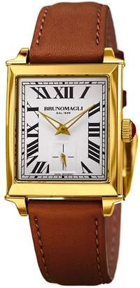 Bruno Magli Women's Valentina 1061 Swiss Quartz Watch with Brown Italian Leather Strap