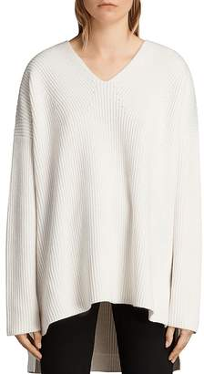 AllSaints Clea Slouchy V-Neck Sweater