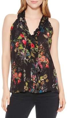 Parker Allie Floral Silk Blend Top