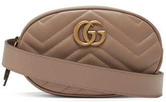 Gucci Gg Marmont Quilted Leather Belt Bag - Womens - Nude