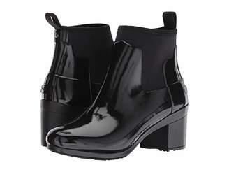 Hunter Refined Mid Heel Gloss Rain Boots