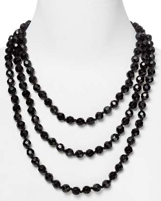 Carolee Black Faceted Bead Rope Necklace, 72""