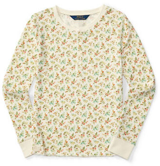 Ralph Lauren Childrenswear Girls 2-6x Long Sleeve Cotton Top $29.50 thestylecure.com