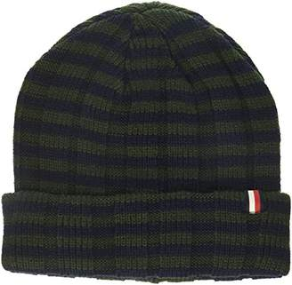Tommy Hilfiger Men's Textured Stripe Cuff Hat,OS