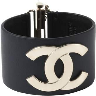 Chanel Navy Leather Bracelets