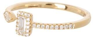 Bony Levy 18K Yellow Gold Multi Shape Diamond Accent Ring - Size 6.5