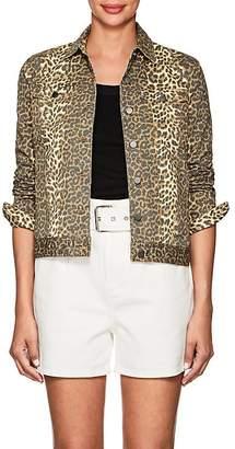 ATM Anthony Thomas Melillo Women's Leopard-Print Denim Jacket