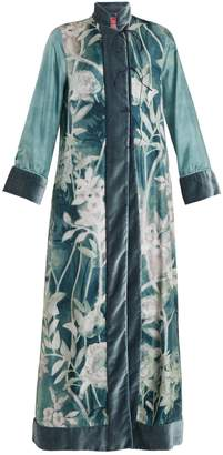 F.R.S - FOR RESTLESS SLEEPERS Euribia Ramage floral-print lace-up silk kimono