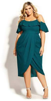 City Chic Flirtation Dress - turquoise