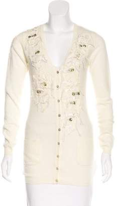 Blumarine Embellished Wool Cardigan