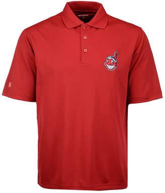 Antigua Men's Cleveland Indians Pique Extra Lite Polo Shirt