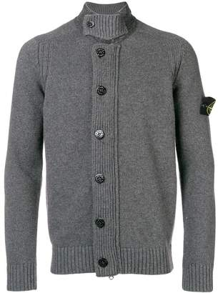 Stone Island long-sleeve fitted cardigan