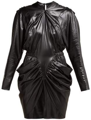 Isabel Marant Soya Draped Mini Dress - Womens - Black