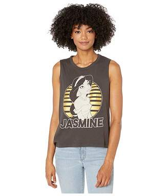 Chaser Aladdin - Gauzy Cotton Cropped High-Low Muscle Tank