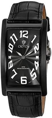 Croton Men's CN307533BKBK ARISTOCRAT Analog Display Quartz Black Watch