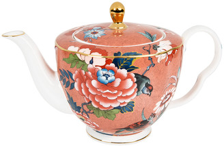 Wedgwood Paeonia Large Teapot - Coral