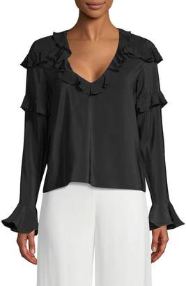 Alexis Women's Silk Ruffle Blouse