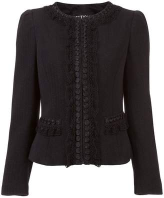 Moschino lace trim fitted jacket