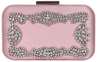 Adrianna Papell Minaudiere Clutch Bag, Blush/Silver