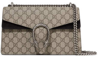 Gucci Dionysus Small Coated-canvas And Suede Shoulder Bag - Beige