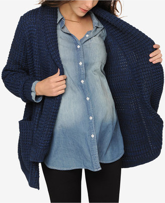 Line Maternity Open-Front Cardigan $125 thestylecure.com