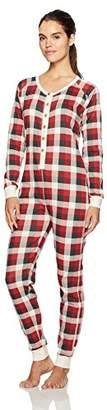 Burt's Bees Baby Women's Adult 100% Organic Cotton Holiday 1-Piece Pajamas