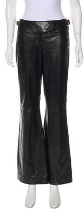 Kenzo Mid-Rise Leather Pants