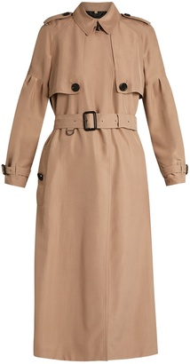 BURBERRY Maythorne mulberry-silk trench coat $1,843 thestylecure.com