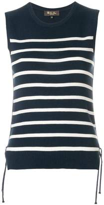 Loro Piana sleeveless striped knit top