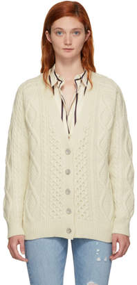 3.1 Phillip Lim Off-White Aran Cable Cardigan