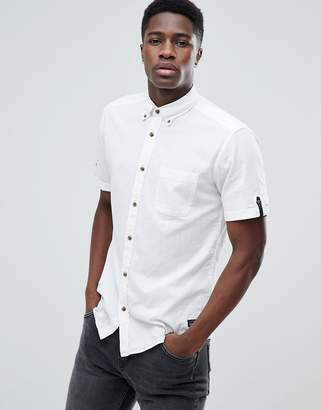 Esprit Short Sleeve Cotton Linen Shirt