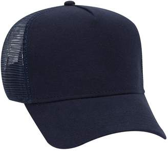 db7c96ee176cf Otto Caps Otto Comfy Cotton Jersey Knit 5 Panel Pro Style Trucker Hat