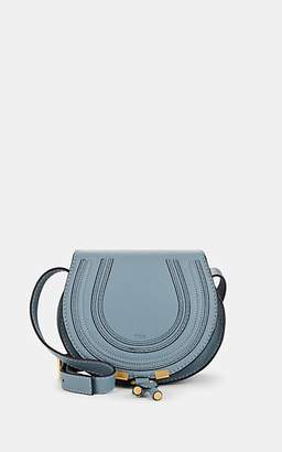 Chloé Women's Marcie Small Leather Crossbody Saddle Bag - Blue