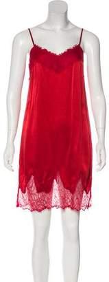 Haute Hippie Lace-Trimmed Silk Dress w/ Tags