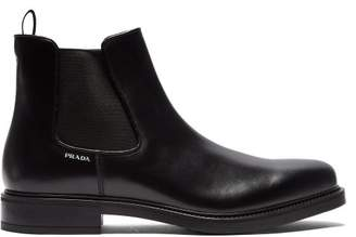 Prada - Leather Chelsea Boots - Mens - Black