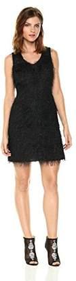 Armani Exchange A X Women's All-Over Fringe V-Neck Sleeveless Dress