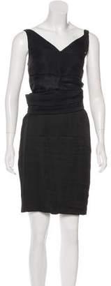Lanvin Silk Sash-Accented Dress