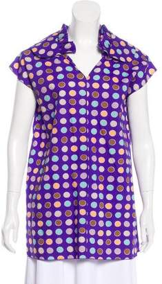 Marni Polka Dot Short Sleeve Top