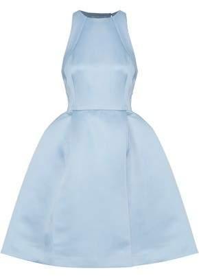 Halston Flared Cutout Satin Dress