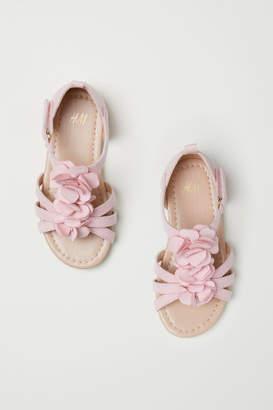 H&M Sandals with Appliques - Pink