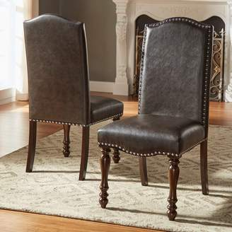 Homevance HomeVance Ingram Nailhead Dining Chair 2-piece Set