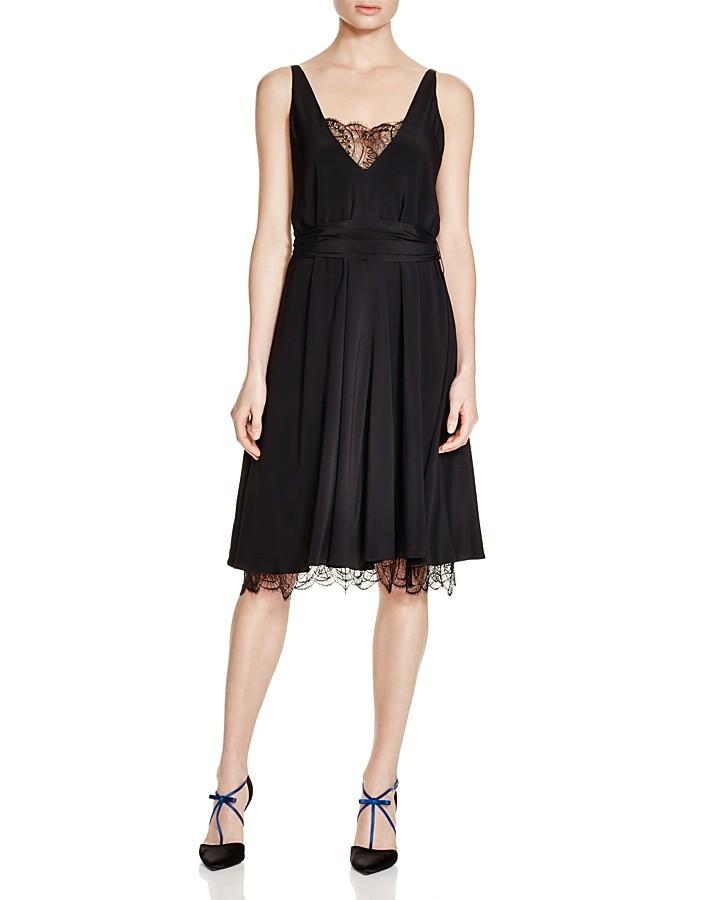 Paule KaPAULE KA Lace-Trimmed Crepe Dress